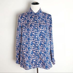 Marc by Marc Jacobs Silk Damask Button Blouse
